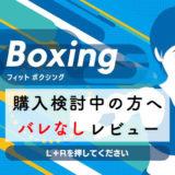 【Fit Boxing(フィットボクシング)】購入を迷っている人に。