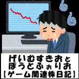 【ゲーム関連株日記】損益がかなりプラスに近づいてきていると思ったが。【その13】